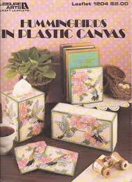 used hummingbirds coasters tissue box cover plastic canvas pattern leaflet crafts needlecrafts yarn embroidery cross sch ebay