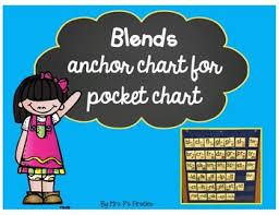 Beginning And Ending Blends Anchor Chart For A Pocket Chart