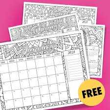 Make sure your printer is ready to print. Free 2021 Printable Coloring Calendar By Sarah Renae Clark