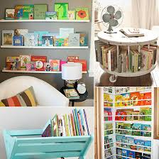 19 Unique Ways to Store and Display Your Tots' Books | Rack 'em up. Children's  Book StorageCable ...