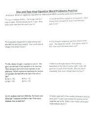 solving two step equations worksheets solve multi step equations worksheet solving one step equations worksheet doc