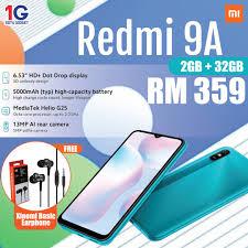 <b>Xiaomi Redmi 9A</b> (2GB + 32GB) – <b>Original</b> Malaysia Set – Satu ...