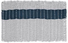 Nautical Rope Doormat, Cape Cod Gray and Navy Blue