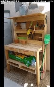 pallet garden potting bench 1001