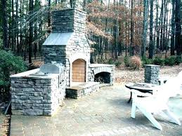 outdoor masonry fireplace how to build outdoor stone fireplace an stacked step by tutorial with pictures