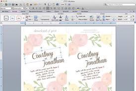 Wedding Invitation Templates Downloads Diy Wedding Invitation Template With Watercolor Flowers