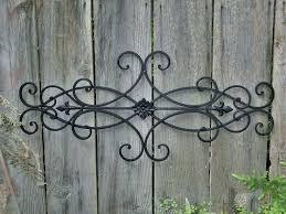 black wrought iron outdoor wall decor