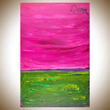 dream by qiqigallery 36 x24 original modern abstract wall paintings abstract art large wall art canvas art magenta purple green home decor wall decor gift