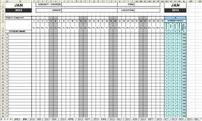 attendance spreadsheet excel attendance sheets 2013