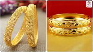 Gold Bangles Design With Price In Pakistan Latest Gold Kara Karay Designs For Girls Gold Bangles Kangan Designs For Women