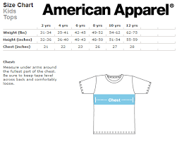 American Apparel Youth Size Chart Wolf Kid T Shirt Sold By Little Creeps