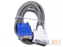 <b>Кабель Hama DVI</b>-VGA <b>1.8м</b> серый H-45075 — купить по лучшей ...