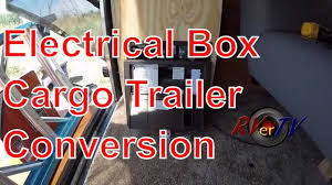 electrical box install wall baskets cargo trailer conversion electrical box install wall baskets cargo trailer conversion rvertv