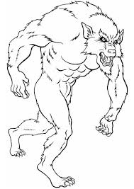 We have here pets and wild animals, birds and fishes, reptiles, real and fantastic animals. Coloring Page Werewolf Free Printable Coloring Pages Img 8833