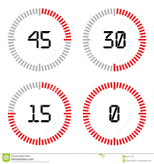 Set Timer Five Minutes Countdown Timer With Five Minutes Interval In Modern Style Stock