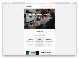 Mailchimp Responsive Design Template 30 Easy To Customize Free Mailchimp Email Templates 2020