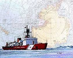 Uscgc Polar Star Art On A Chart Art For My Walls Coast