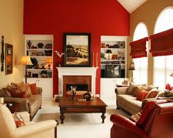 15 Red Themed Living Room Best Wall Home Design Walls In | neriumgb.com