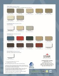 Star Building Systems Color Chart 2 Bluestar Steel Buildings