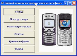 База данных Склад по продаже сотовых телефонов Курсовая работа  База данных quot Склад по продаже сотовых телефонов quot