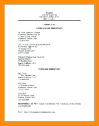 Sample Resume Format References Examples Of On A What Orlandomoving Co