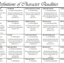 Character Qualities To Encourage Kids Character