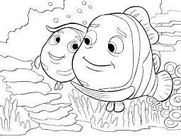 Finding Nemo Coloring Pages Pdf Free Printable Unique Pictures Ele