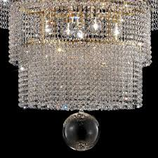 large tiered swarovski crystal gold chandelier