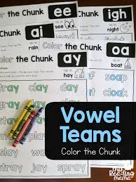 Help ks1 & ks2 learners practice the alternative spellings for 'ai' with this fantastic phase 5 phonics worksheet. Vowel Team Phonics Worksheets Color The Chunk This Reading Mama