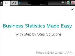 ▷business statistics made easy step by step the ti  solve business statistics problems stepwise using the ti nspire calculator