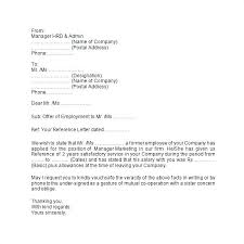 Sample Reference Letter For Employee Useful Template Example