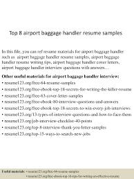 Baggage Handler Resume Top224airportbaggagehandlerresumesamples224lva224app622492thumbnail24jpgcb=2242433224524224224224 21