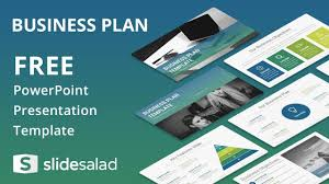 Ppt Business Template Business Plan Free Powerpoint Template Design Slidesalad Youtube