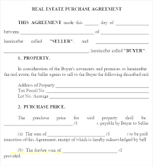 Property Purchase Contract Template Simple For Sale By Owner Simple Property Purchase Agreement Template