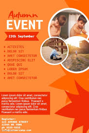 Template For Event Flyer Autumn Kids Event Flyer Template Postermywall