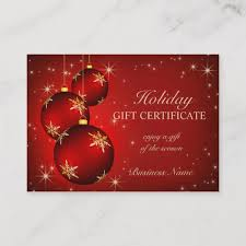 Holiday Gift Certificate Holiday Season Gift Certificate Zazzle Com