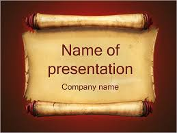 Scroll Powerpoint Template Ancient Paper Powerpoint Template Infographics Slides