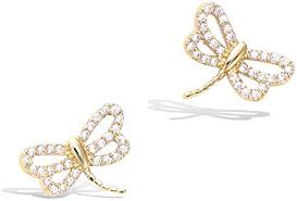 Agvana Yellow Gold Filled Cute Small Dragonfly Stud ... - Amazon.com