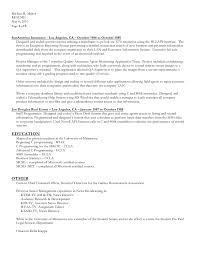 Resume In Word Format