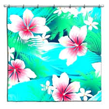 hibiscus shower curtain our tropical