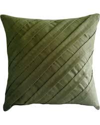 olive green pillows. Textured Pintucks 12\ Olive Green Pillows I