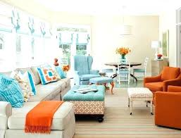 brown and teal living room ideas blue and orange living room ideas enchanting orange and blue