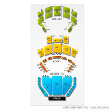 Orpheum Theatre New Orleans 2019 Seating Chart