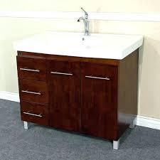 left side sink vanity right side sink vanity bathroom vanities in single sink vanity wood walnut