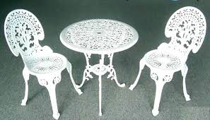 white cast iron patio furniture.  Cast Metal Patio Table And Chairs Cast Iron Outdoor White  Decor Intended White Cast Iron Patio Furniture