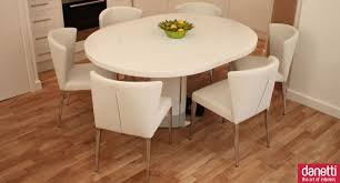 Small Picture Curva White Gloss Extending Dining Set Oval dining tables