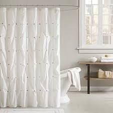 shower curtains. Ink + Ivy Masie Cotton Printed Shower Curtain - White Shower Curtains