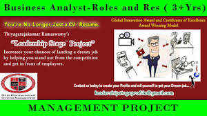 leadership stage project business analyst roles and responsibilities3yr ba roles and responsibilities
