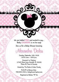 Baby Shower Invitation Backgrounds Free Delectable Baby Shower Minnie Mouse Invitations Minnie Mouse Damask Ba Shower