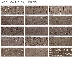 Damascus Patterns
